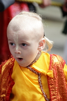 cute little monk shouting