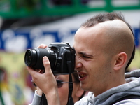 view--photographer with shaved head