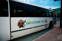 vancouver 2010 winter olympic shuttle bus Abbotsford, British Columbia, Canada, North America