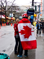 canadian flag in winter olympic Vancouver, British Columbia, Canada, North America
