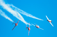 view--snowbirds breaking formation Abbotsdord, British Columbia, Canada, North America
