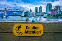 Caution Fairview,  Vancouver,  British Columbia,  Canada, North America