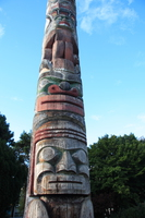 totem and the blue sky Vancouver, British Columbia, Canada