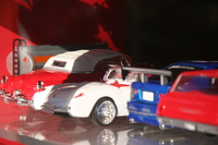 model cars in toy shop