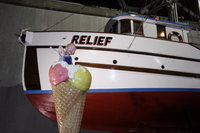 ice cream boy and the relief boat