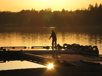 view--sunset fishing in deer lake