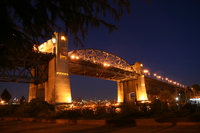 beautiful burrard bridge in vancouver night