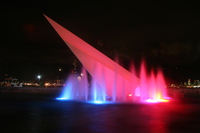 fountain of red