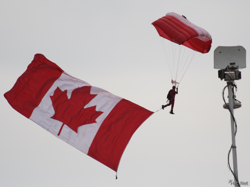 canadian forces skyhawks with canadian flag vancoolver photos