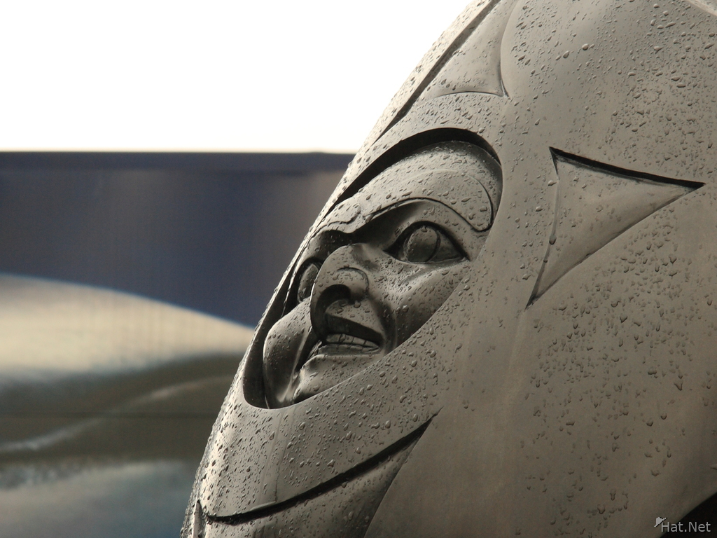 view--chief of the undersea world sculpted by artist bill reid