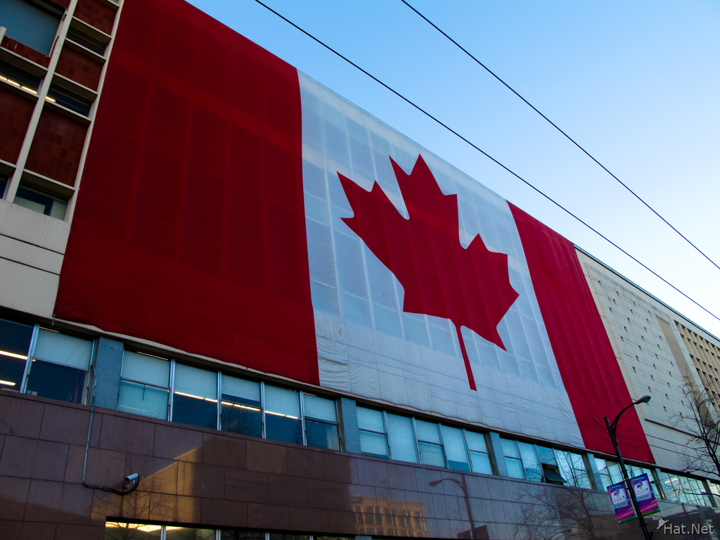 giant canadian flag